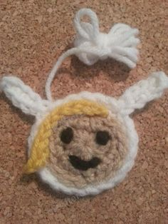 Fionna Adventure Time Face Applique Crochet Pattern - free crochet applique pattern from cRAfterChick.com