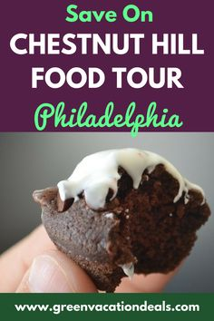 Looking for Philadelphia Food Tours? You'll love the Chestnut Hill walking tour in Philly, where you get to enjoy gourmet cheese, craft beer & dessert. You'll also get an exclusive Taste Book with local recs & foodie articles. This is a must for foodies in the Philadelphia Pennsylvania area. Find out how you can save $30 off! Things to Do in Philadelphia PA #Philadelphia #FoodTour #Philly #VisitPhiladelphia #Pennsylvania #CulinaryTour #PhillyPhilly #foodie #craftbeer #chestnuthill