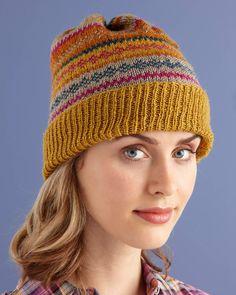 Glamorous Fair Isle Hat (Knit)