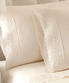 Take a look at the Ivory Jasmine Cotton Sheet Set on #zulily today!