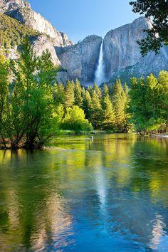summer paintings landscapes with waterfalls | Yosemite-Falls-Reflections-Merced-Summer_DSC9427-Yosemite_National ...