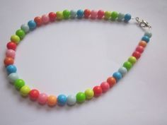 New colorful Kids Chunky candy Beads Necklace cute Jewelry girl birthday gift #handmade