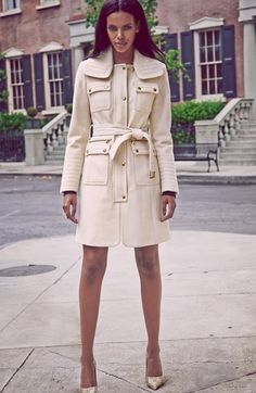 Laundry by Shelli Segal Belted Wool Blend Trench Coat. Nordstrom