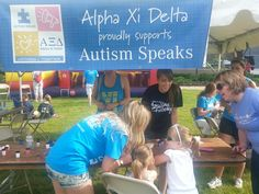 Alpha Xi Delta at the Indianapolis Walk-I'm in this picture!!