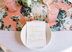 {Calligraphy Starter Kit} DIY Ideas with Dream Green DIY - Laura Hooper Calligraphy Vintage Valentines, Be My Valentine, Funny Valentine, Pastel, Colorful Party, Diy Kits, Party Planning, Party Time, Party Favors
