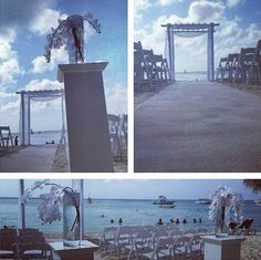 All White Beach Ceremony. Available to personalize at Occidental Grand Aruba