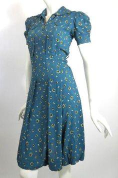 Dorothea's Closet Vintage Dress Dress Swing Dress - Moyiki Sites 1940s Dresses, Trendy Dresses, Nice Dresses, Casual Dresses, 1940s Fashion Dresses, Robes Vintage, Vintage Outfits, Dress Vintage, Vintage Clothing