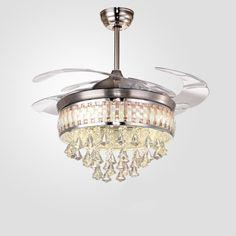 Hidden Ceiling Fan white leaf pattern hidden blades ceiling fan y4222 retractable