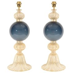 1stdibs | A Pair Of Murano Glass Lamps