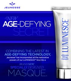 Just shared this amazing 'Instant Face Lift' at a Jeunesse Happy Hour last evening.... everyone who tried it was amazed! AND using the cleanser and serum with it proved we can change those fine lines/wrinkles and dehydration! Love the comments I am getting! www.marysam.jeunesseglobal.com