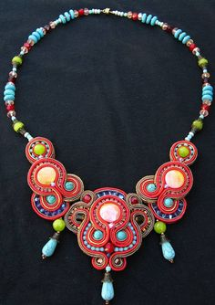 Makaresh redone Soutache necklace by Cielo Design, via Flickr