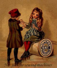1855 Clark's ONT Our New Thread. Site also has info about the history of thread.