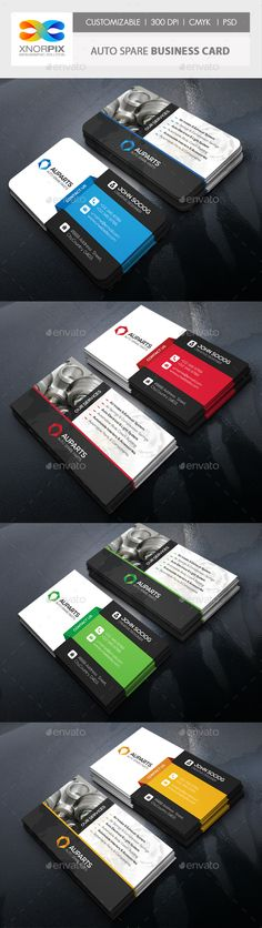 Auto Spare Business Card Template PSD