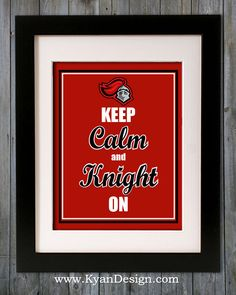Rutgers University   Keep Calm and Knight On 8x10 by KyanDesign, $9.95
