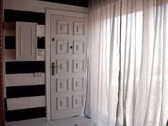 My entry. B stripes Black White Stripes, Black And White, Hacks, Curtains, Tips, Home Decor, Blinds, Decoration Home, Black N White