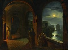 View Karthäuser Mönche in Certosa di San Giacomo auf Capri by Franz Ludwig Catel on artnet. Browse upcoming and past auction lots by Franz Ludwig Catel. Great Paintings, Old Paintings, Beautiful Paintings, Fantasy Landscape, Fantasy Art, Forest Landscape, San Giacomo, Capri, Moonlight Painting