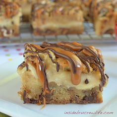 Caramel Apple Milky Way Cheesecake Bars