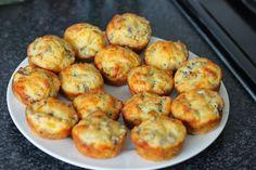 Cheesy Biltong Muffins Banting Recipes, Meat Recipes, Cooking Recipes, Healthy Recipes, Delicious Recipes, Savory Muffins, Savory Snacks, Breakfast Muffins, Kitchens