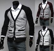 Men's Cotton Cardigan with Faux Pockets