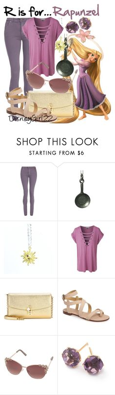 """""""R is for... Rapunzel"""" by disneygirl22 ❤ liked on Polyvore featuring dVb Victoria Beckham, LE3NO, Dolce&Gabbana, Splendid, Dorothy Perkins and Ippolita"""