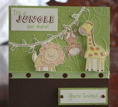 baby shower invitation for jungle theme