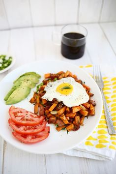 Sweet potato + bacon breakfast hash