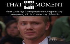 "THAT #OTH MOMENT ""All my players are hurting"""