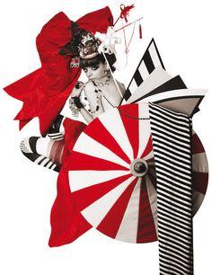 Their Wonderland...partnership between Paco Peregrin and Kattaca. Editorial about Aya Kato, a Japanese illustrator. S)