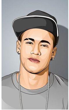 Get Good Nike Wallpaper for iPhone 11 Now! Vector Portrait, Digital Portrait, Portrait Art, Male Portraits, Soccer Art, Football Art, Dope Cartoon Art, Cartoon Drawings, Football Player Drawing