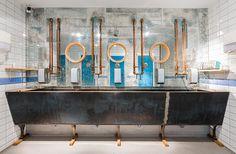 Toilet mirrors in Babetta Cafe  Design by @gsignstudio  #mirror #toilet #interior