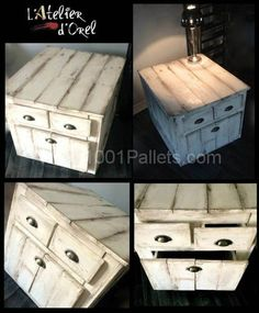 DIY: Pallet side and Nightstand