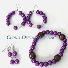 """Deal-89"" 1 Pair Earring 1 pair of Pearl Baali with 1 bracelet Price Rs:800"