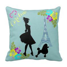 Elegant Lady in Paris Pillow