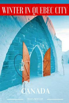 Winter in Quebec City photo gallery collection.