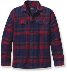 Patagonia's version of reliable flannel, warm enough to double as a light jacket—Patagonia Fjord Flannel Shirt.