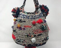 Diy Crochet Bag, Crochet Top Outfit, Love Crochet, Double Crochet, Knit Crochet, Knitting Yarn, Hand Knitting, Soft Natural Makeup, Super Natural