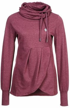 Lovely sleeve comfy and cozy hoodie... This looks like it'd double as a great maternity hoodie!
