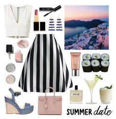 """Summer Date: Perfectly In Love"" by sophier ❤ liked on Polyvore featuring Tom Ford, Jura, Terre Mère, Chicwish, Olfactive Studio, Chanel, Yves Saint Laurent, Alice + Olivia, Pippa Small and Jimmy Choo"