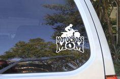 Motocross Mom Car Decal Girl or Boy Window sticker by MyVinylCut on Etsy