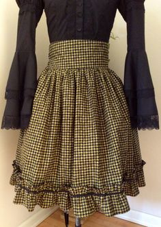 Steamgoth Lolita Skirt with Checkers