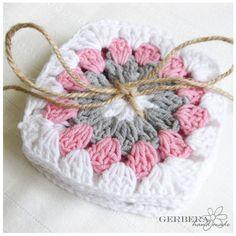 Crochet Coasters/Doilies of Multicolor Set of 8 by RainbowGerbera, $24.00