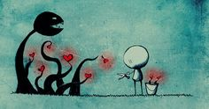 Often love acts as a carnivorous plant :P !