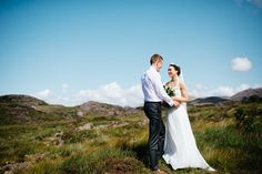 """""""When we got outside, the weather was fabulous and we were able to have our reception on the beautiful front lawn at Rosleague Manor,"""" Garrett said.   