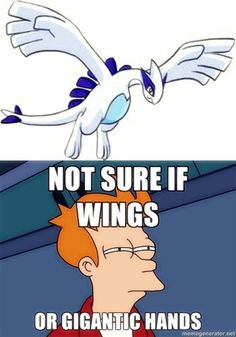 Pretty sure they're wings. Either way, I'm never looking at Lugia the same way again.