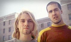 Kurt Cobain & Krist Novoselic in Aberdeen, WA, US. 1990