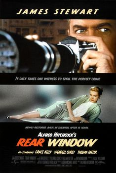 Rear Window- my kind of suspense- classic Hitchcock scary mixed with a little romance and great fashion worn by a princess.  Love it!