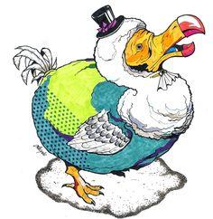 #illustration #artist #art #drawing #artwork #animal #dodo #bird #sketch #イラスト #アート