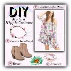 How To Wear Hippie Costume Outfit Idea 2017 - Fashion Trends Ready To Wear For Plus Size, Curvy Women Over 20, 30, 40, 50