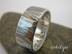 Personalized silver Ring / Band Custom silver ring by Arketipo, €42.00