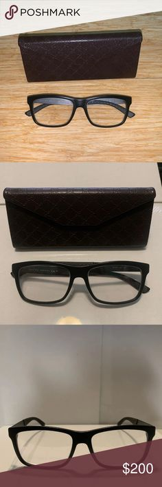 5f5e3fb7b88 Authentic Gucci black frame prescription glasses Authentic Gucci  Prescription glasses These frames have been discontinued.
